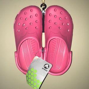 Kids Crocs XS W 4-5 Hot Pink. BNWT